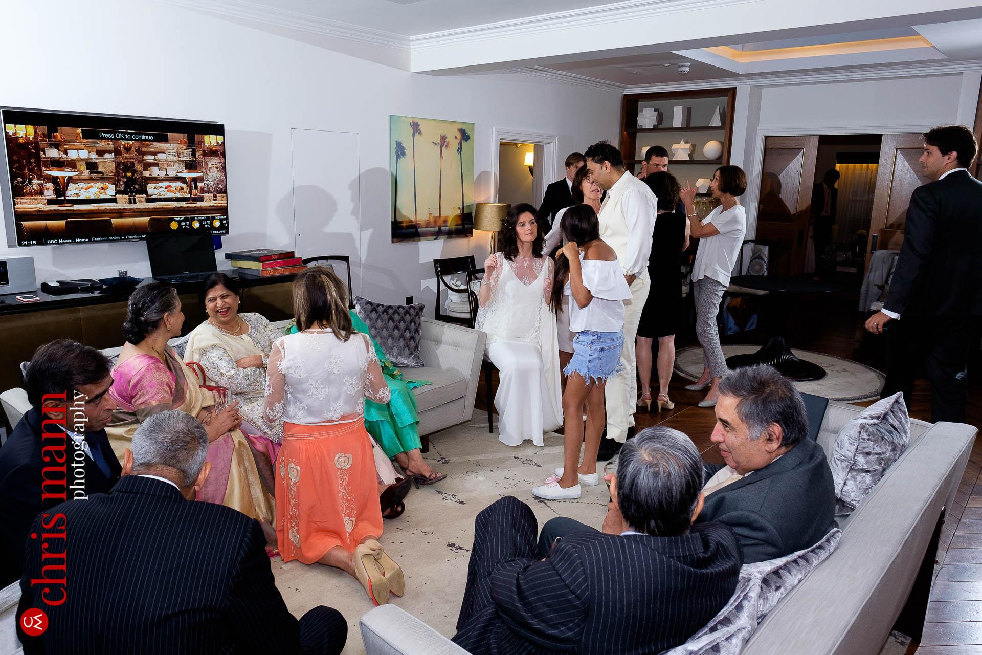 wedding reception at Arts Club Mayfair London W1