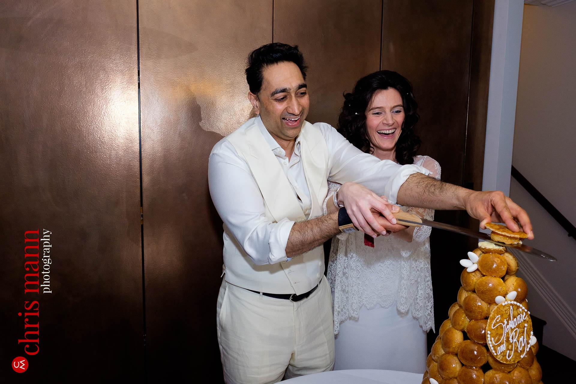 cake cutting wedding reception Arts Club Mayfair London W1