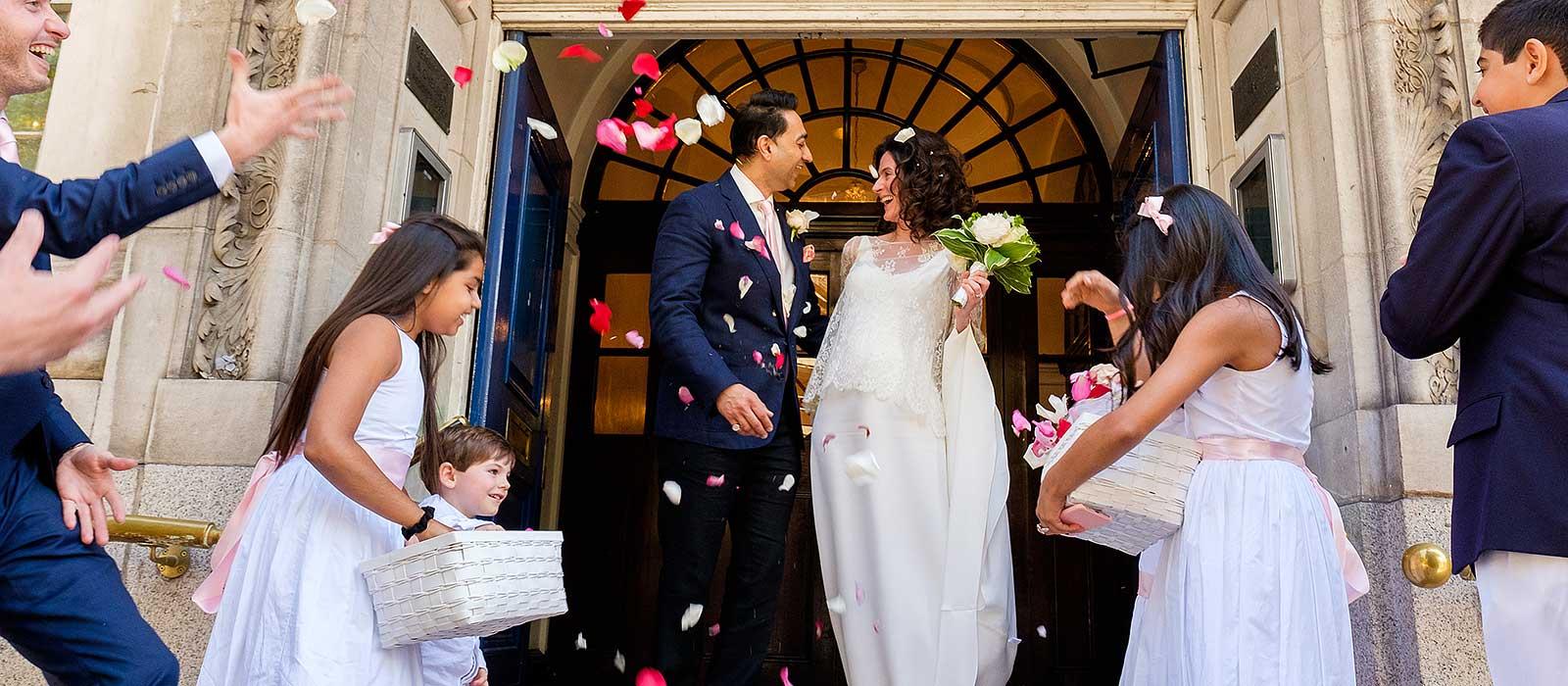 Chelsea Registry office wedding | Stephanie & Raj