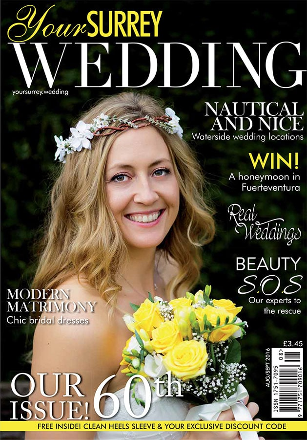 Your Surrey Wedding magazine 60th issue cover