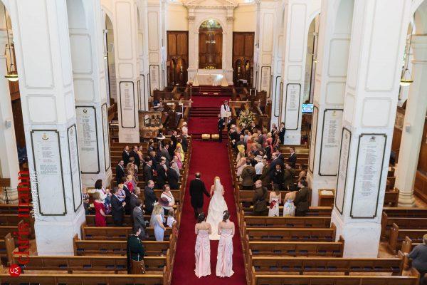 entry of the bride wedding at RMA Sandhurst