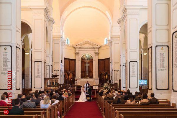 bride and groom wedding ceremony Royal Memorial Chapel Sandhurst