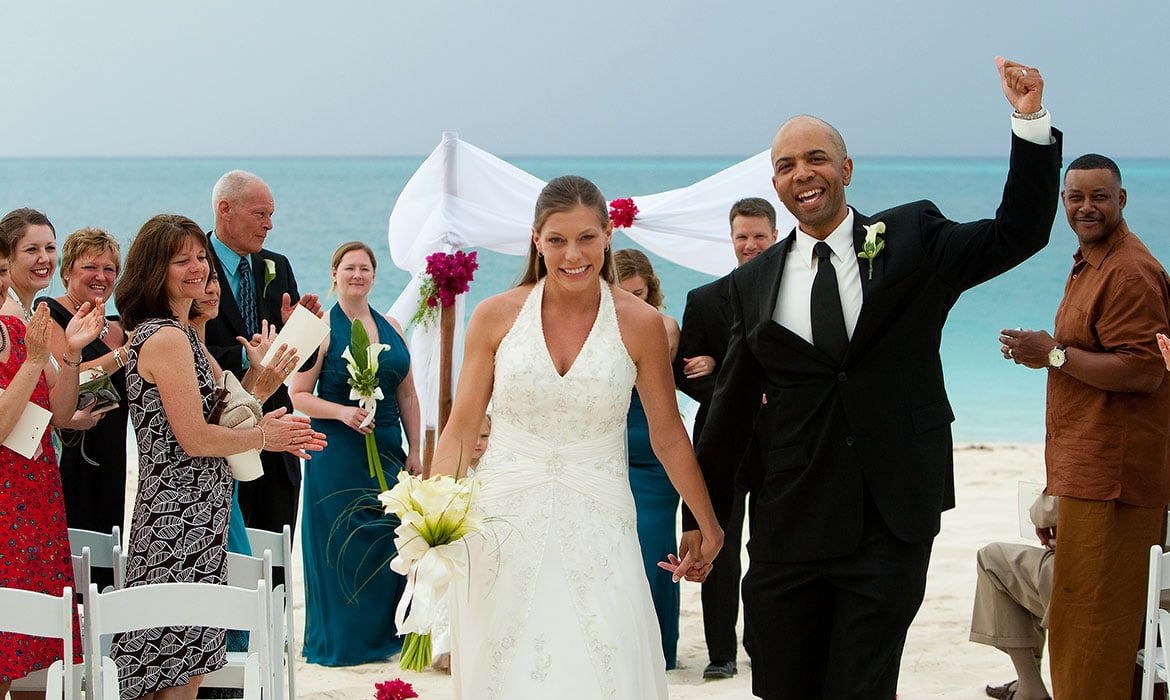Grace Bay beach Turks and Caicos destination weddings