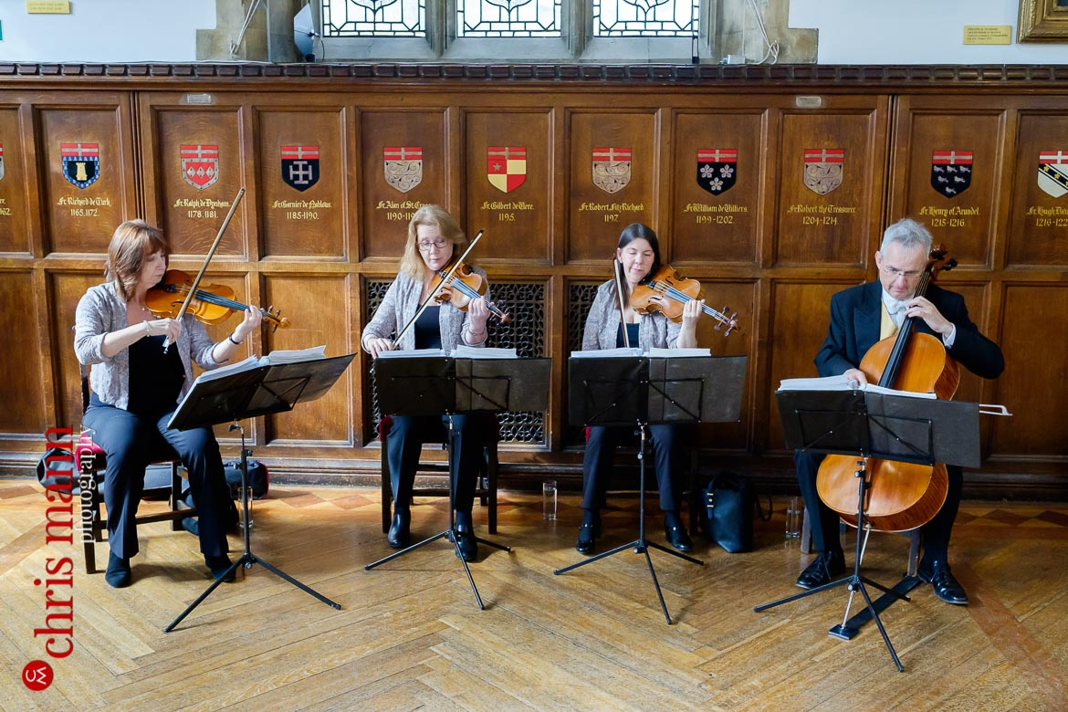 string quartet plays at Museum of the Order of St. John Wedding
