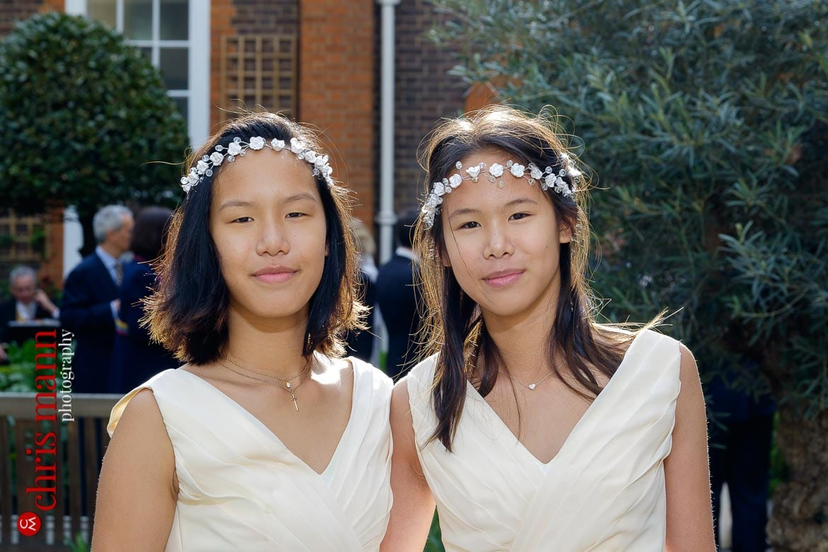 bridesmaids twins Museum of the Order of St. John Wedding Clerkenwell London