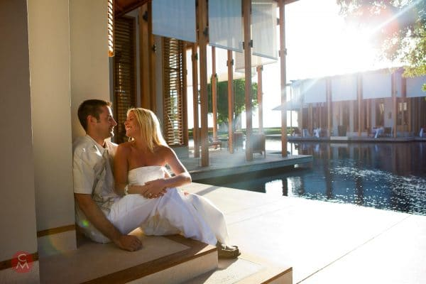relaxed couple at Caribbean resortportrait photography Chris Mann