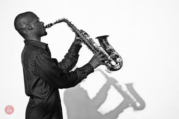 jazz saxophonist Jervon Laporte Turks & Caicos portrait photography Chris Mann