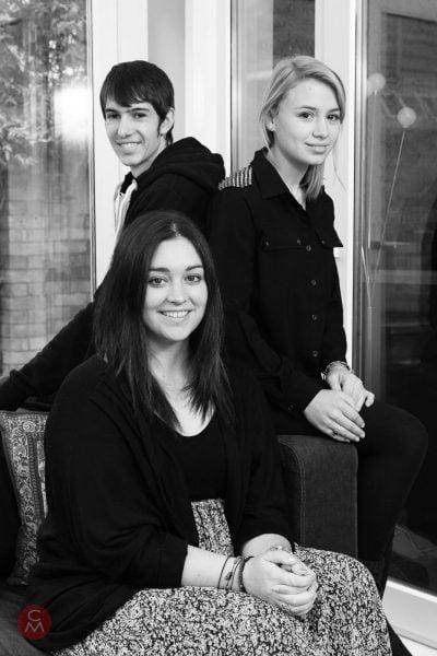 three teenagers group photo portrait photography Chris Mann