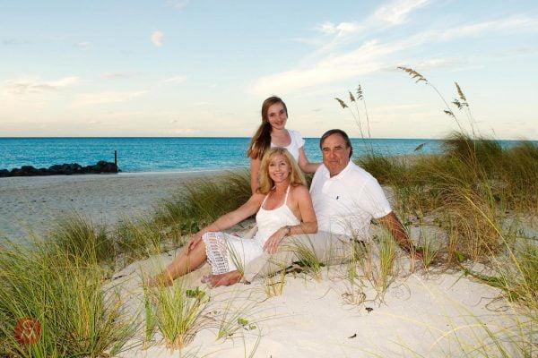 family group photo beach caribbean portrait photography Chris Mann