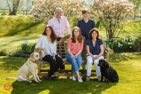 family group photo garden sunshine spring portrait photography Chris Mann
