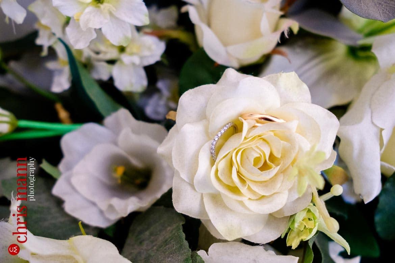 rings and flowers closeup Weybridge Register Office wedding