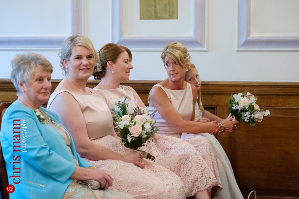bridesmaids at Oxford Register Office Wedding