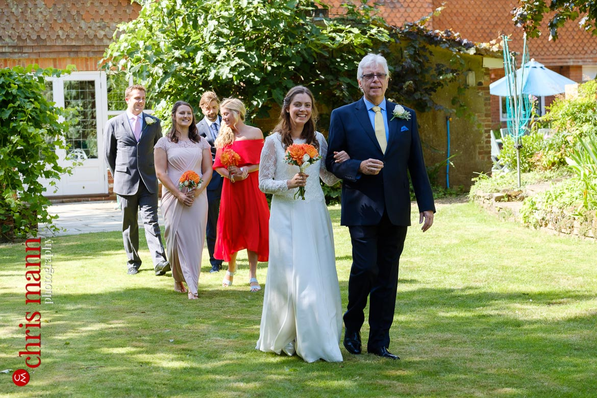 Surrey garden wedding
