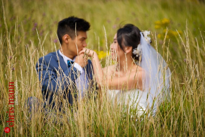 Newlands Corner Surrey wedding photoshoot