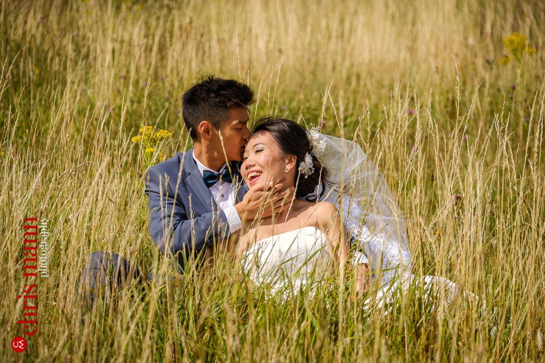 Newlands Corner Surrey wedding photoshoot | Careena + Adrian