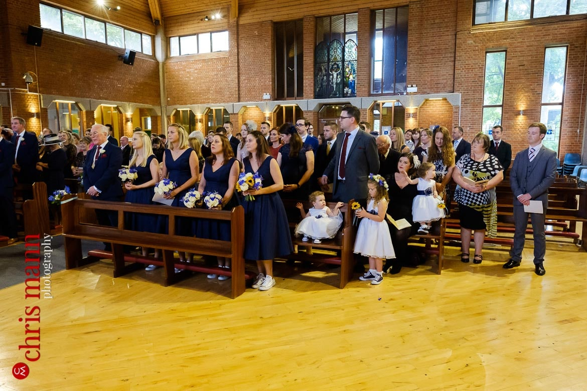 St Joseph's Church Guildford wedding congregation