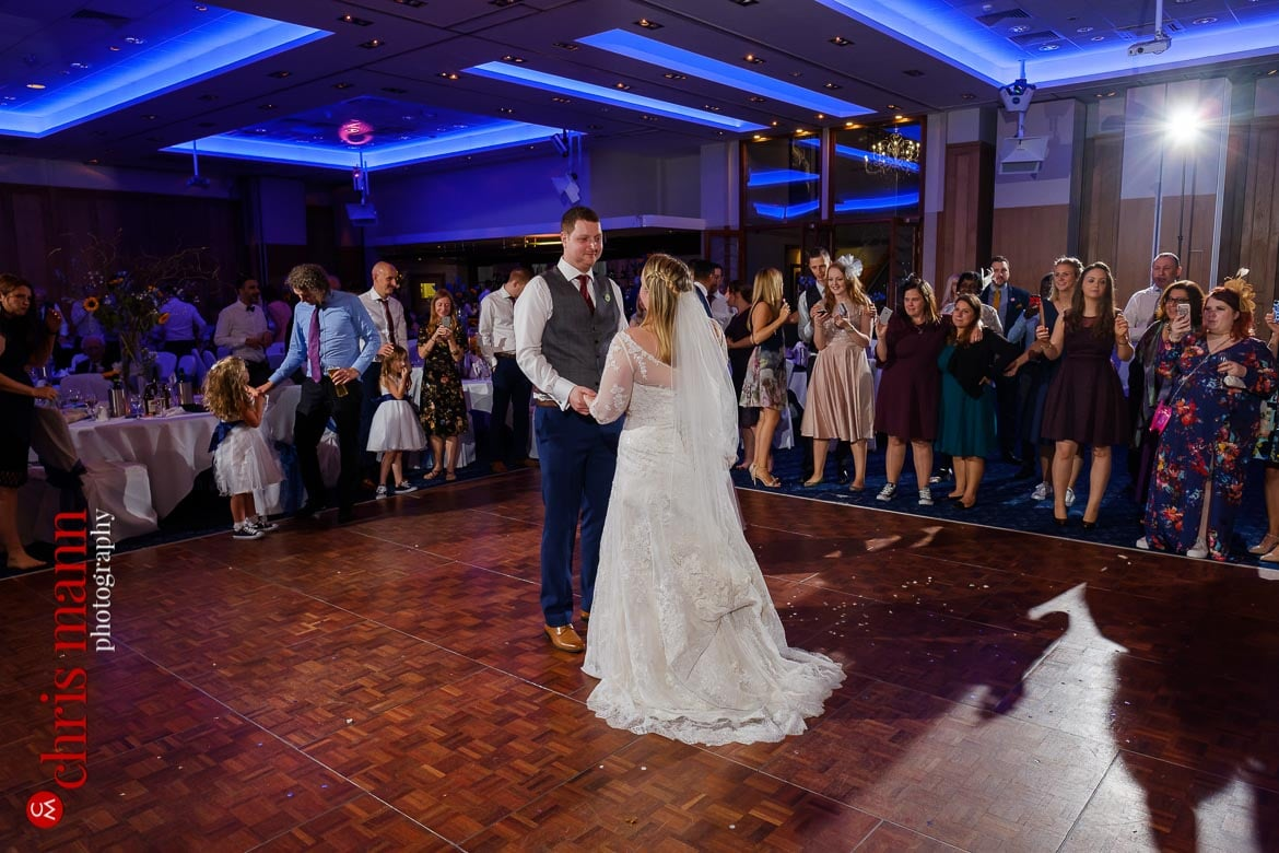 first dance at Mandolay Hotel Guildford wedding photography