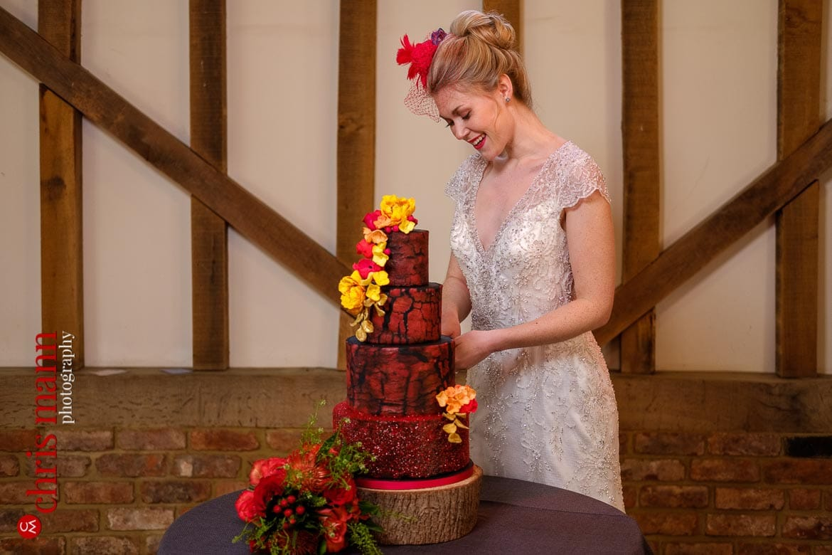 Fire and Ice styled shoot at Gate Street Barn