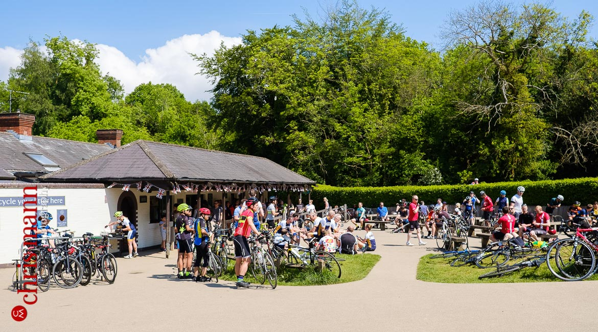 Box Hill National Trust cafe cyclists summer ride