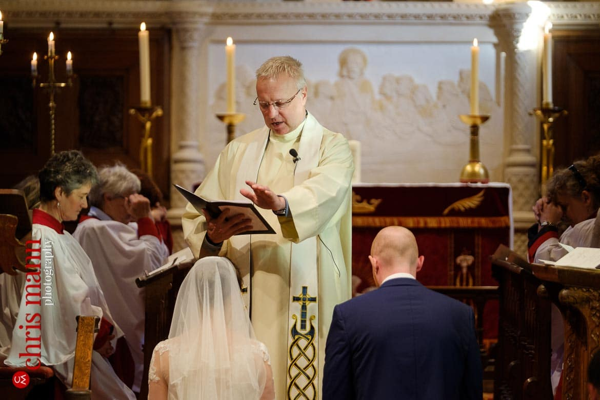 Mickleham Church Box Hill wedding minister blesses the couple