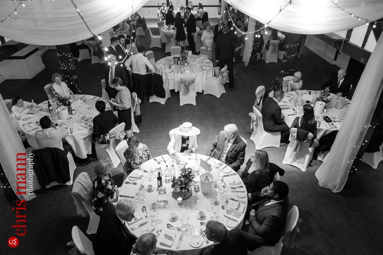 Mercure Burford Bridge Hotel Box Hill Dorking - wedding breakfast overhead view