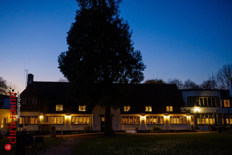 Mercure Burford Bridge Hotel Box Hill Dorking - Tithe Barn exterior night