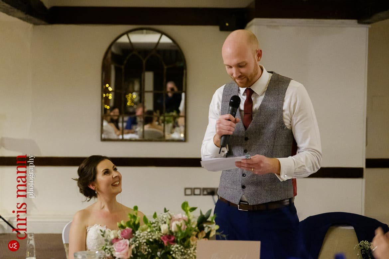 Mercure Burford Bridge Hotel Box Hill Dorking - groom's speech