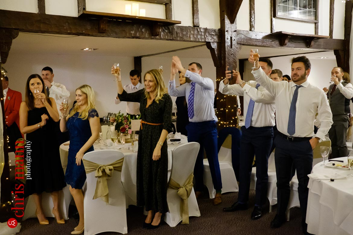 Mercure Burford Bridge Hotel Box Hill Dorking - guests toast the couple
