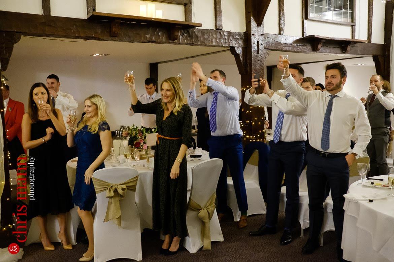Mercure Burford Bridge Hotel Box Hill Dorking - guests toast the couple