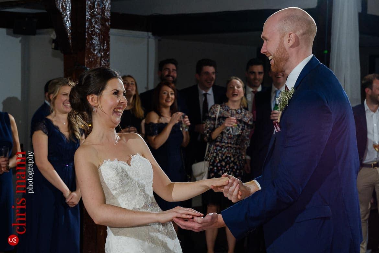 Mercure Burford Bridge Hotel Box Hill Dorking - Tithe Barn bride and groom first dance