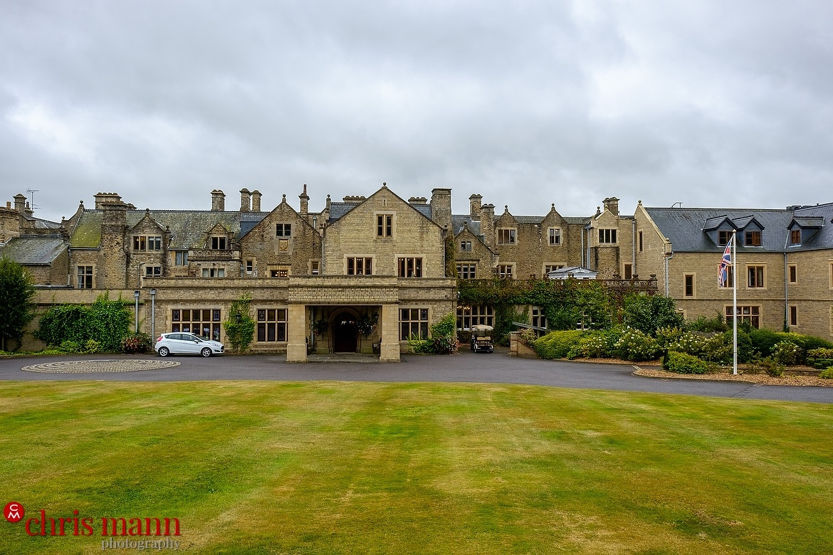 South Lodge Horsham wedding photography by Chris Mann - front elevation of the hotel