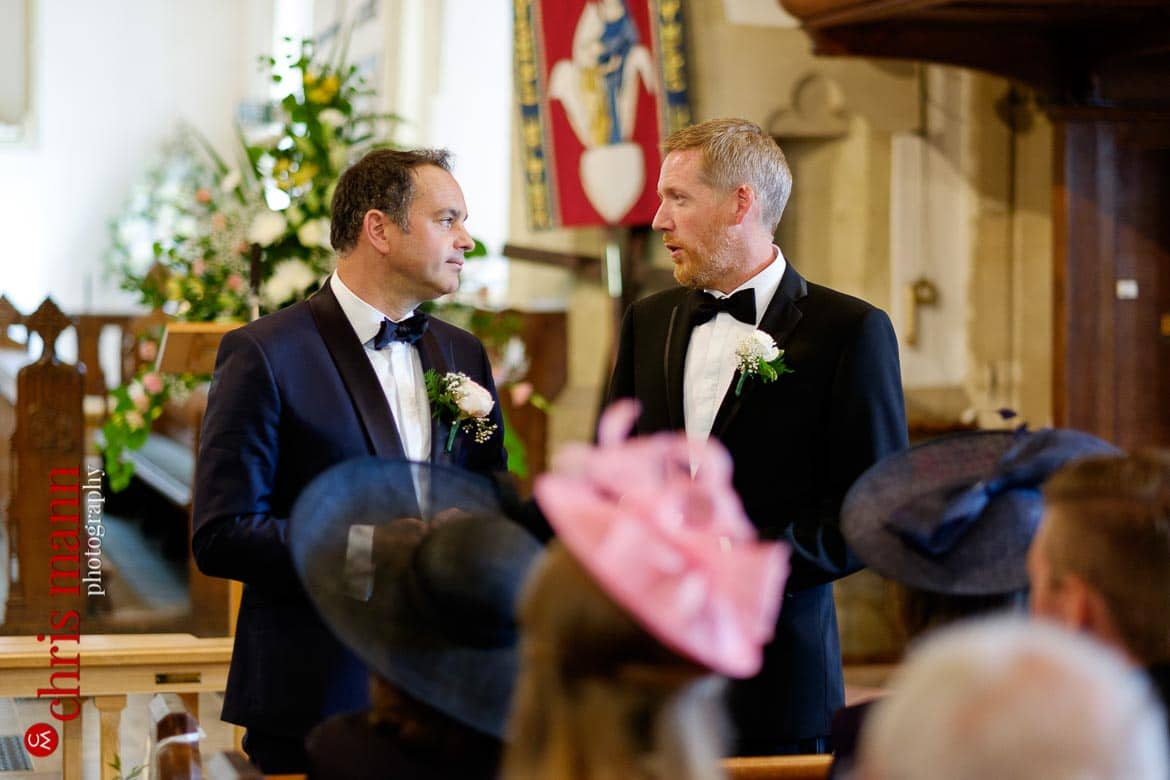 groom and best man - Hampshire country church wedding