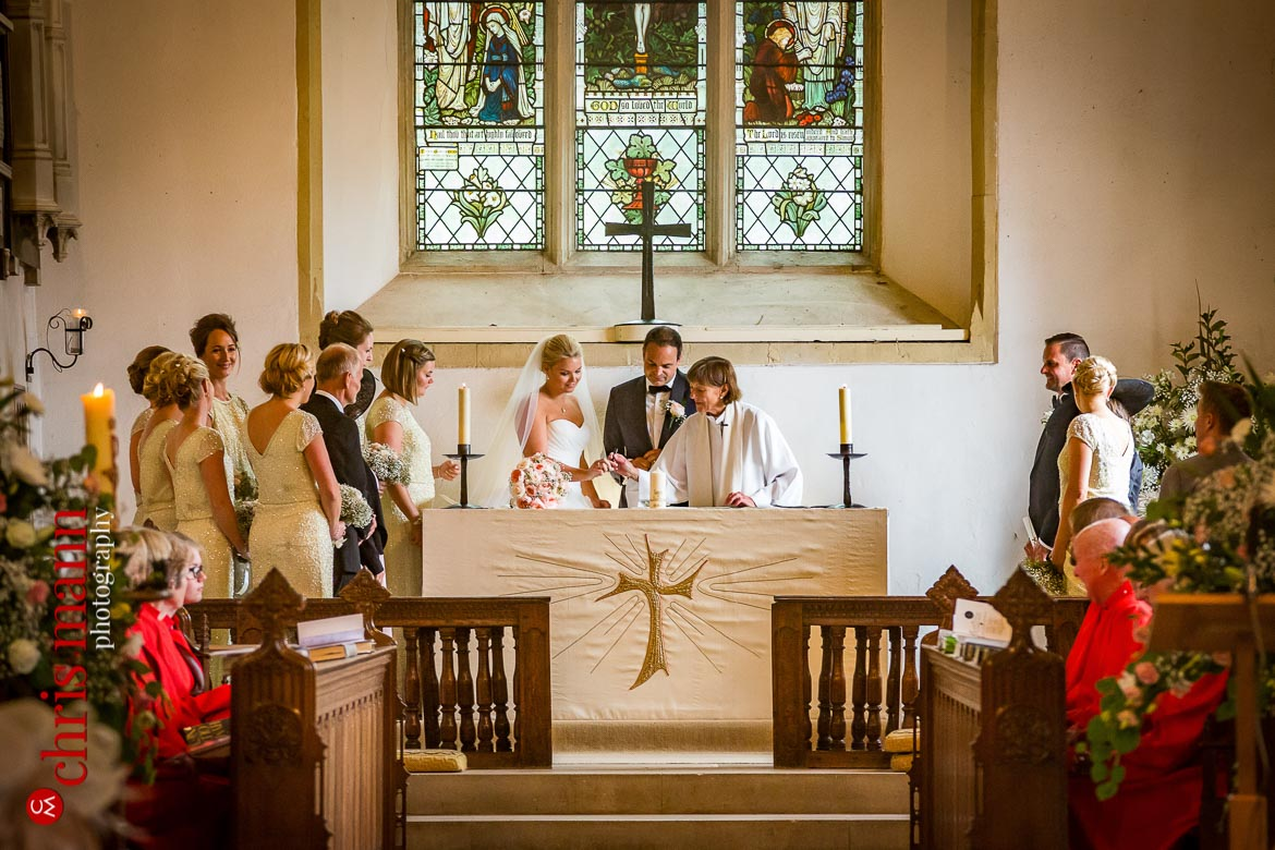 signing the register at the altar - St Peter's Bishop Waltham