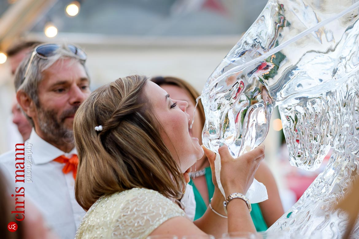 the vodka luge was very well received by the guests!