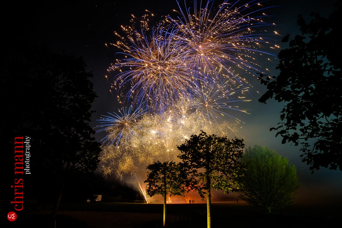 A spectacular wedding firework display completes the celebrations