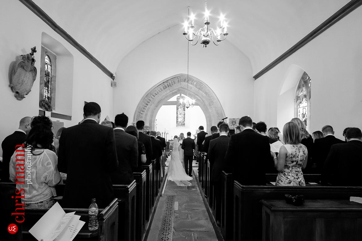 wedding ceremony at St Mary's church Buscot - Oxfordshire country wedding