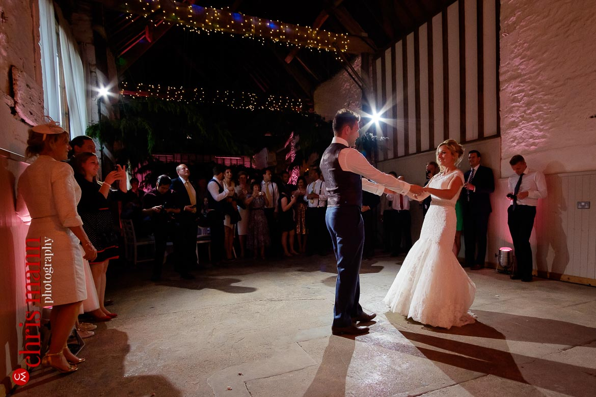 bride and groom's first dance at Friar's Court wedding venue Oxfordshire