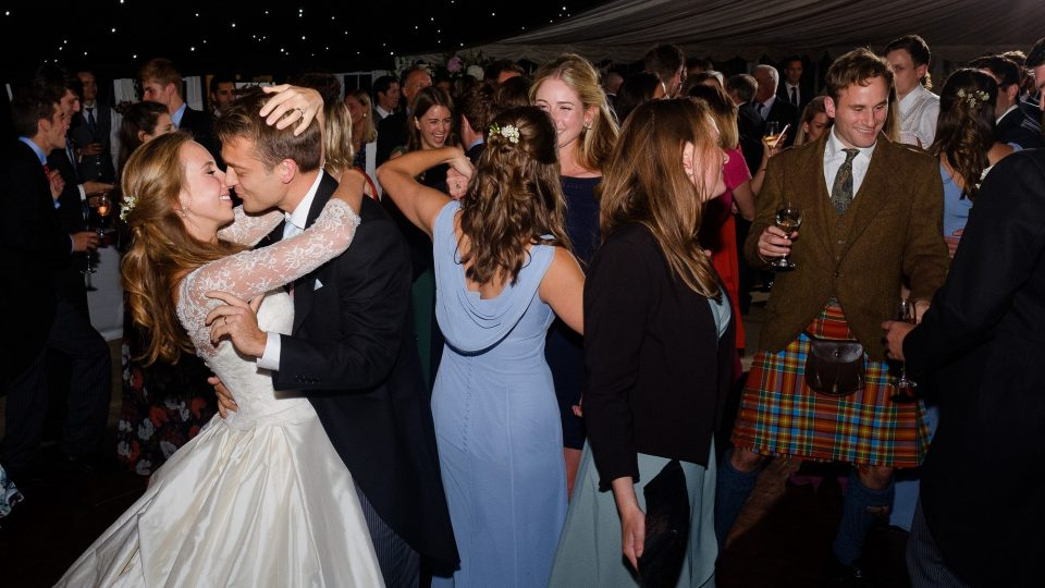 Bride and groom first dance by Guildford Surrey wedding photographer Chris Mann